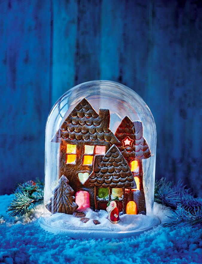 Recipe: Gingerbread village scene