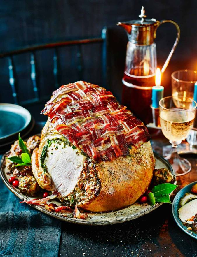 Recipe: Roast turkey crown with herb butter