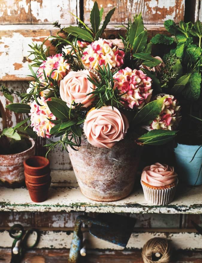 Cupcake flowerpot bouquet | Sainsbury\'s Magazine