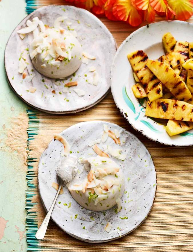 Recipe: Coconut haupia with griddled pineapple