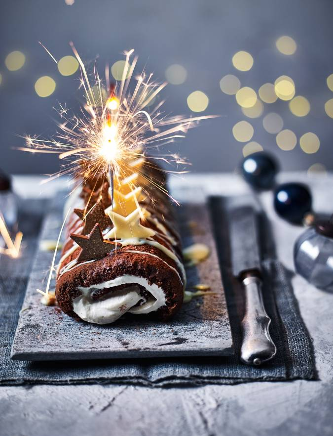 Recipe: Baileys and chocolate roulade