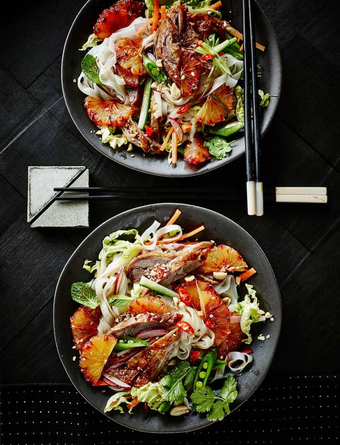 Recipe: Vietnamese-style crispy duck salad with blood oranges