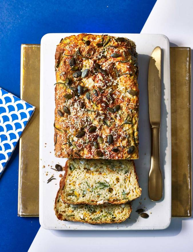 Recipe: Spinach, feta and squash loaf