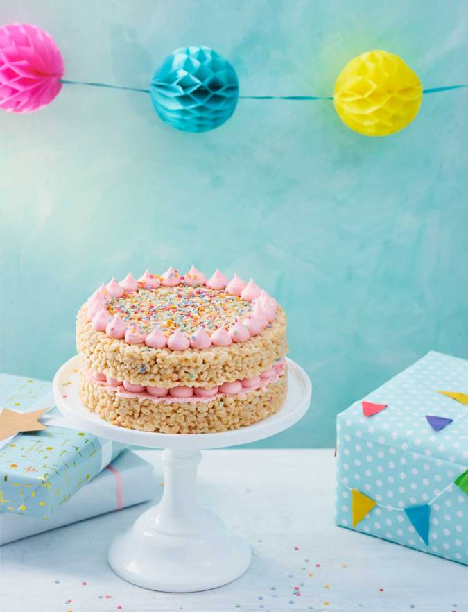Recipe: Rice crispie celebration cake
