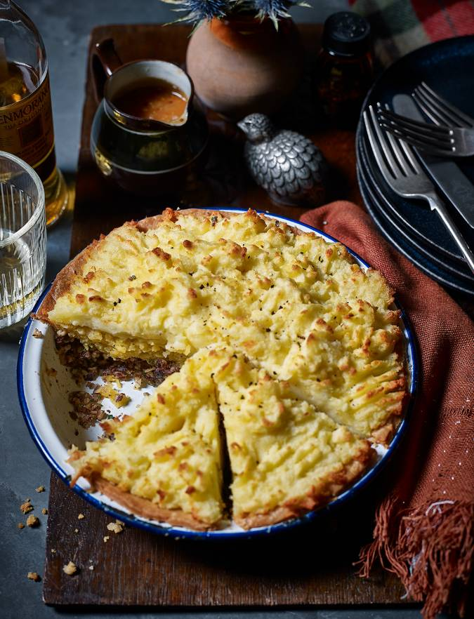 Recipe: Haggis, neeps and tatties tart with whisky gravy