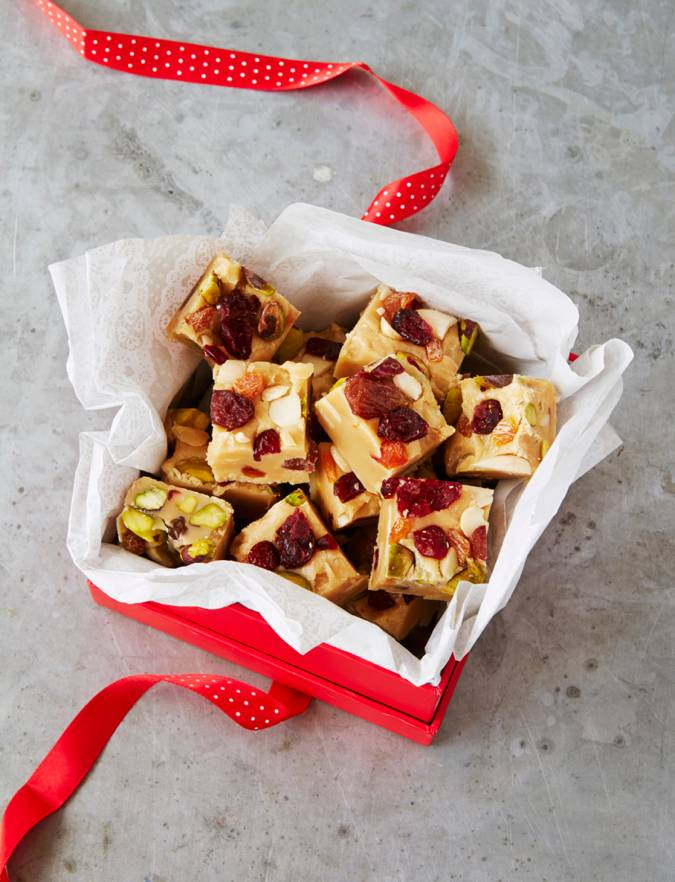 Recipe: 10-minute fruit and nut fudge