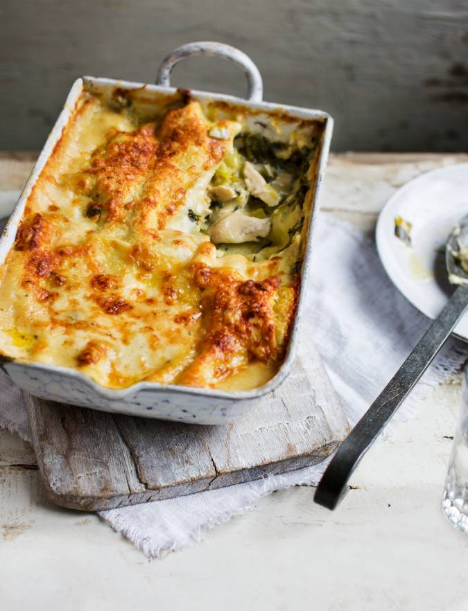 Recipe: Chicken and watercress lasagne