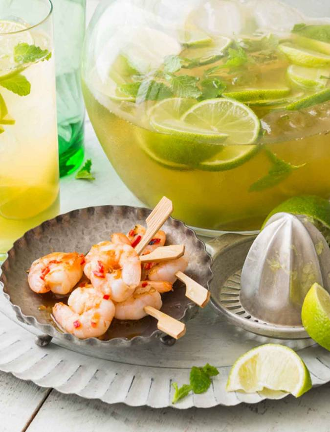 Recipe: Chilli and lime prawn mini skewers