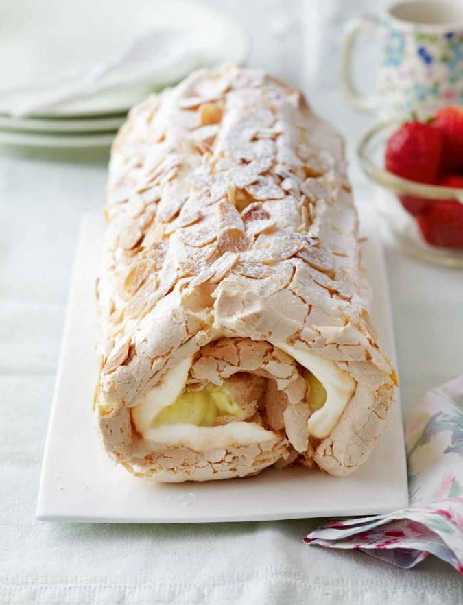 Recipe: Lemon meringue roulade