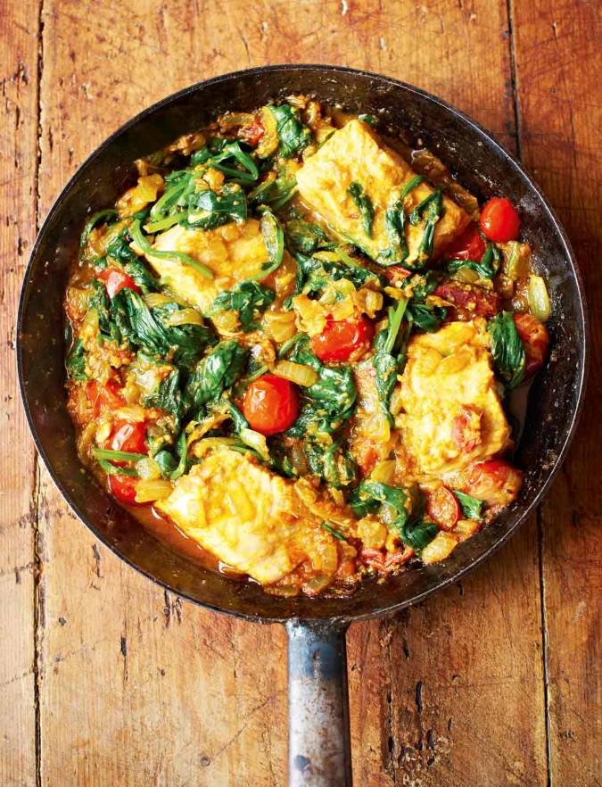 Recipe: Salmon and spinach curry