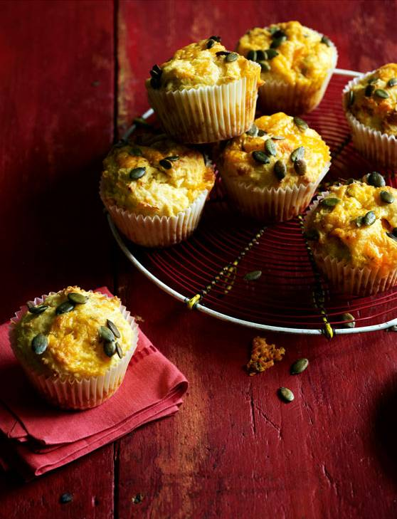 Recipe: Parsnip, blue cheese and pumpkin seed muffins