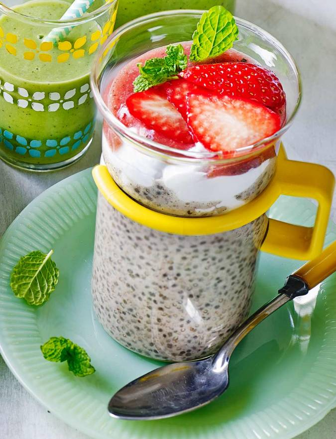 Recipe: Strawberry chia shake