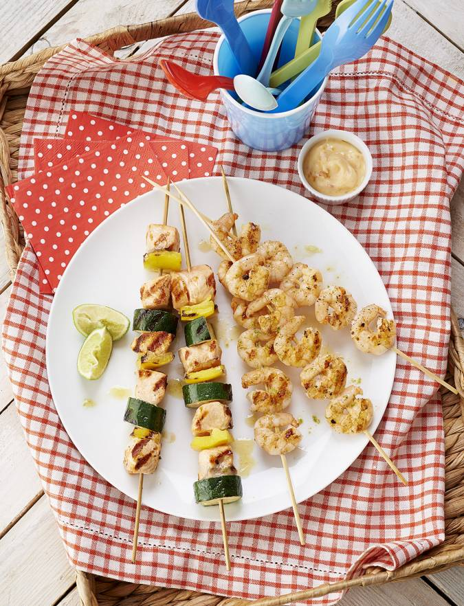 Recipe: Summer skewers with a sweet chilli dip