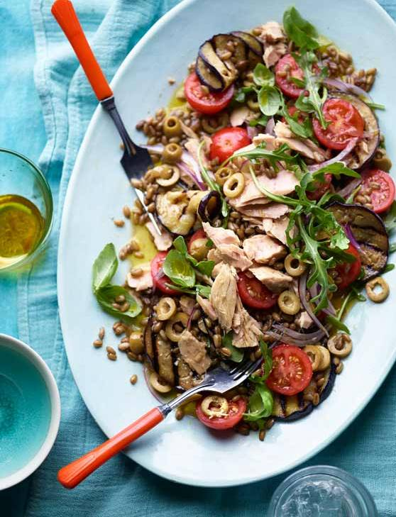 Recipe: Tuna aubergine freekeh
