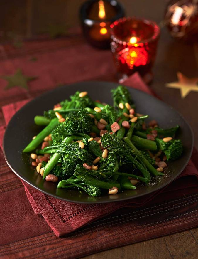 Recipe: Tenderstem® broccoli with crispy pancetta and pine nuts