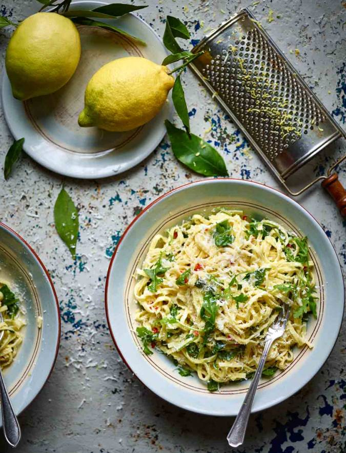 Recipe: Linguine with ricotta, lemon and herbs