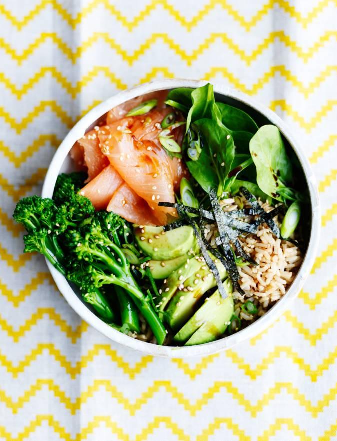 Recipe: Smoked Salmon Sushi Salad Bowl