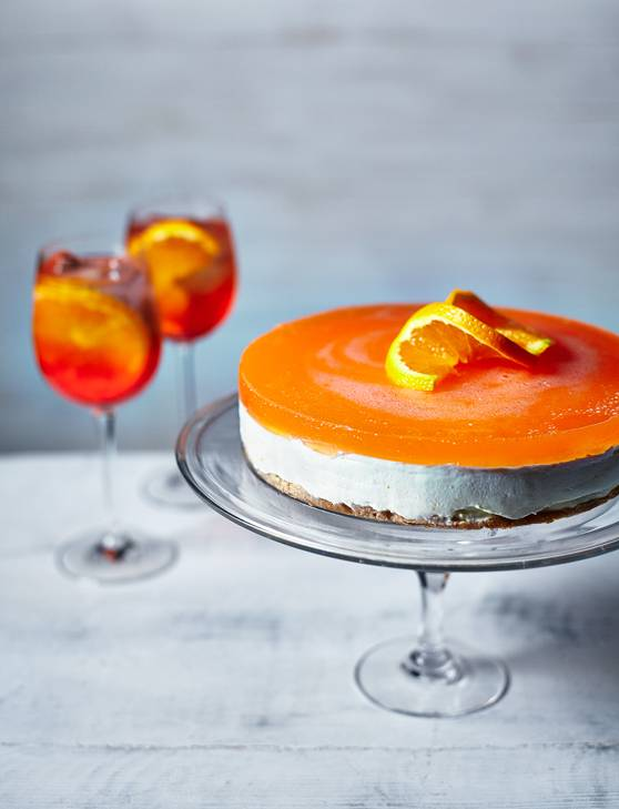 Recipe: Aperol spritz cheesecake