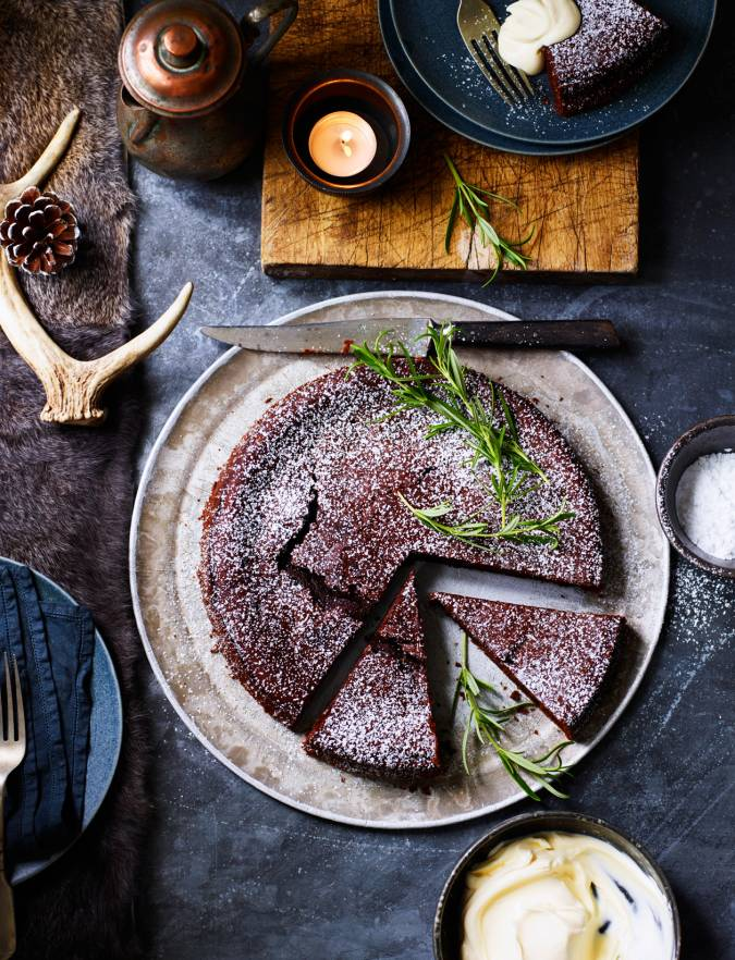 Recipe: Chocolate, red wine and rosemary torte