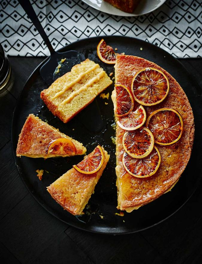 Recipe: Blood orange drizzle cake