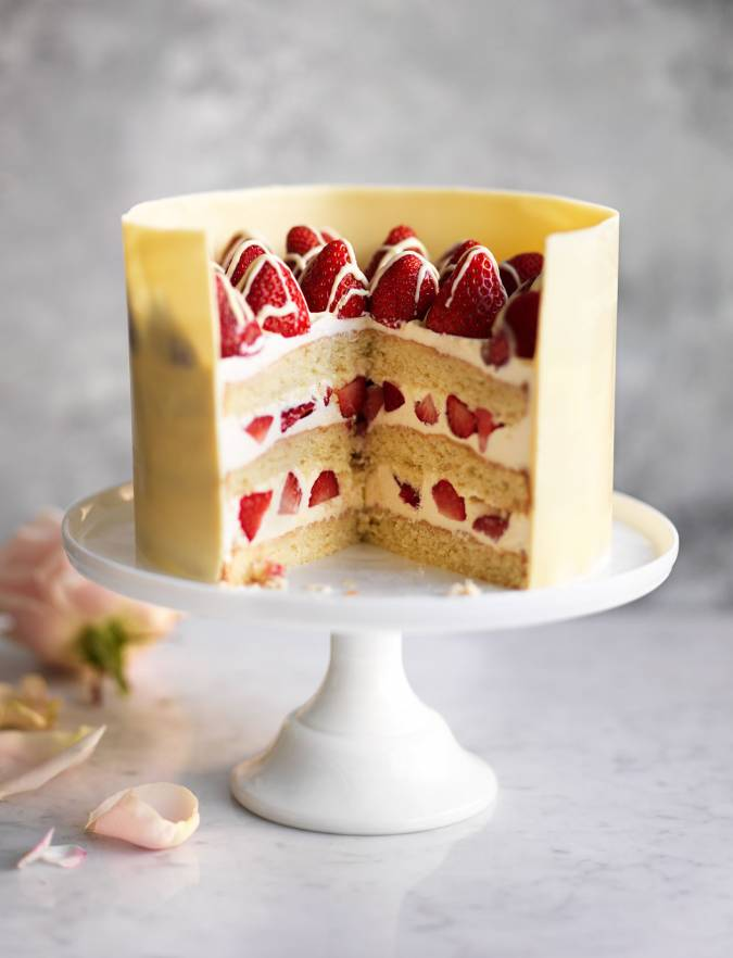 Light Fruit Celebration Cake Recipe