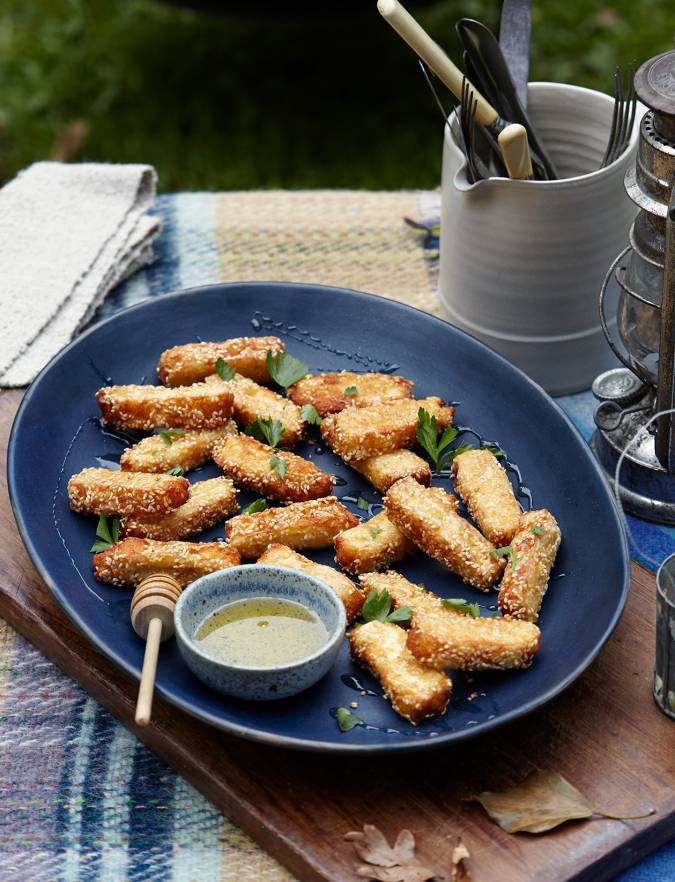Recipe: Sesame honey halloumi fries