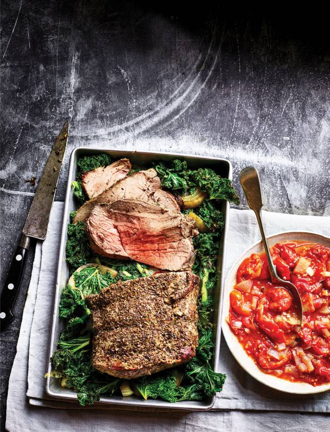Recipe: Oregano roast beef with crispy kale