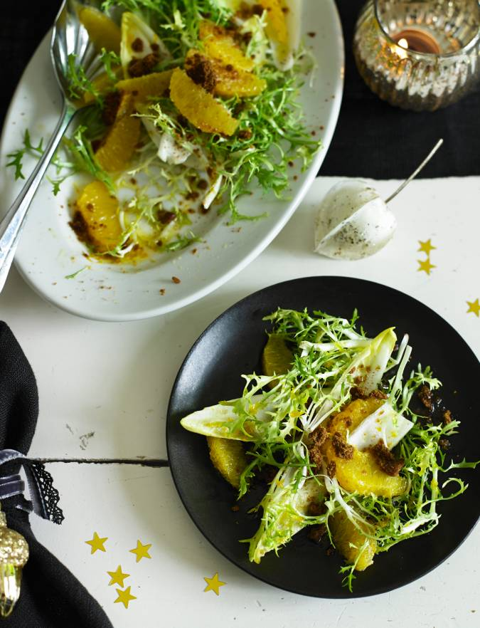 Recipe: Chicory, gingerbread and orange salad