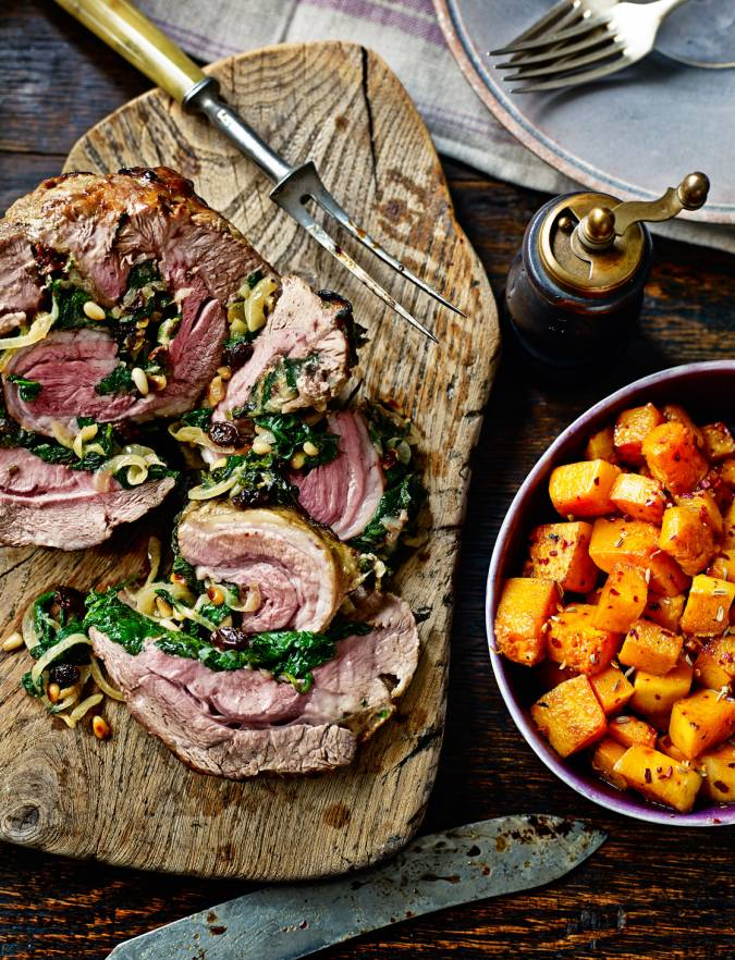 Recipe: Roast shoulder of lamb with spinach stuffing