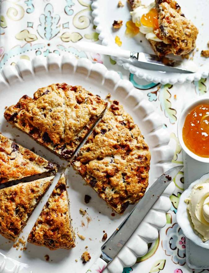 Recipe: Honeycomb, chocolate and orange scone wedges