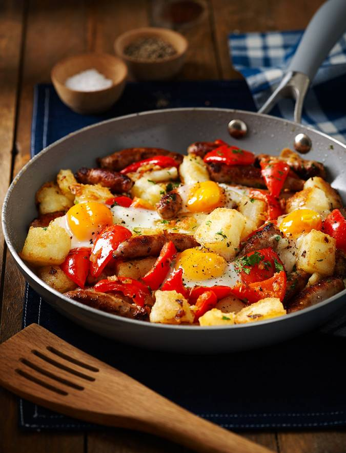 Recipe: Chipolata and potato hash