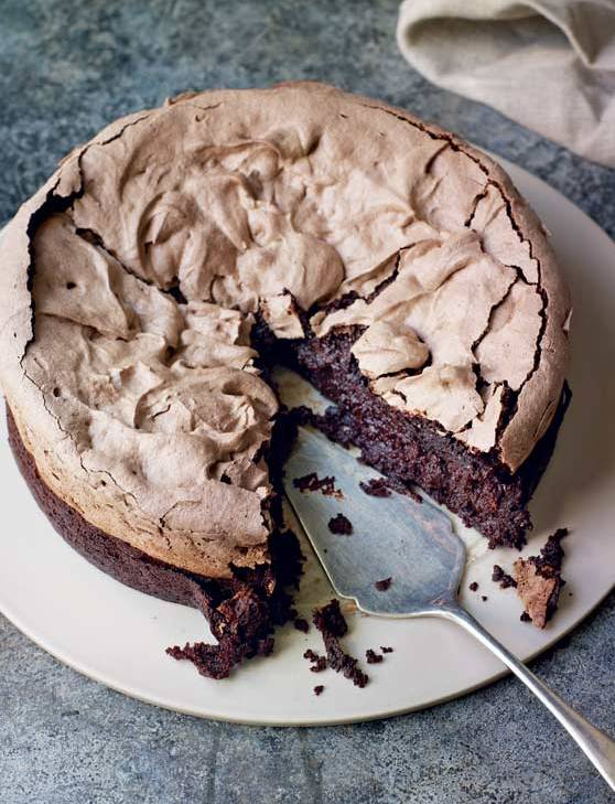 Recipe: Double-baked chocolate meringue brownie