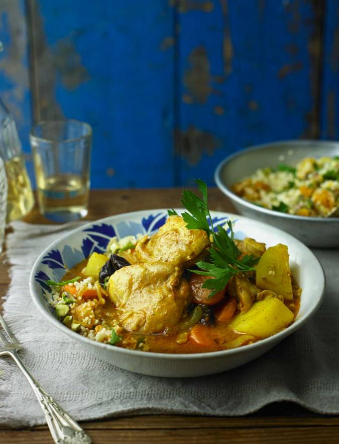 Recipe: Persian chicken with pistachio and apricot couscous