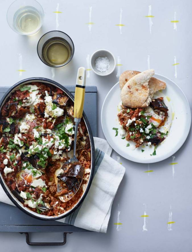 Recipe: Aubergine and beef shakshuka