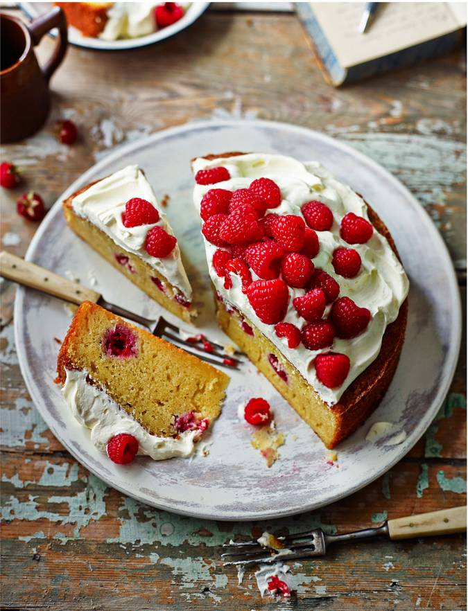 Raspberry Sauternes Cake With Chantilly Cream Sainsbury S Magazine