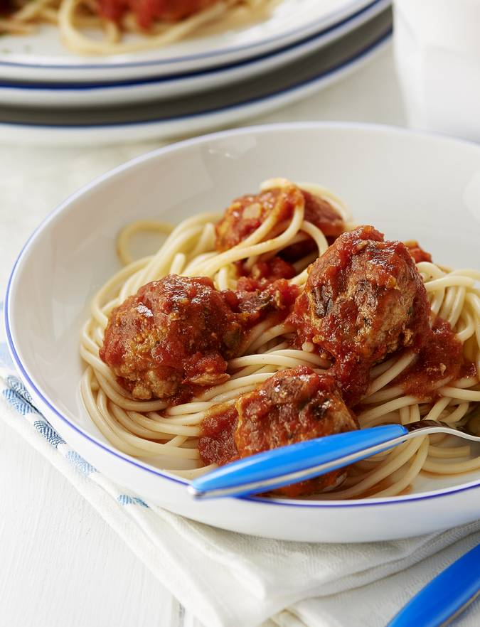 Recipe: Pork meatballs in a rich tomato sauce