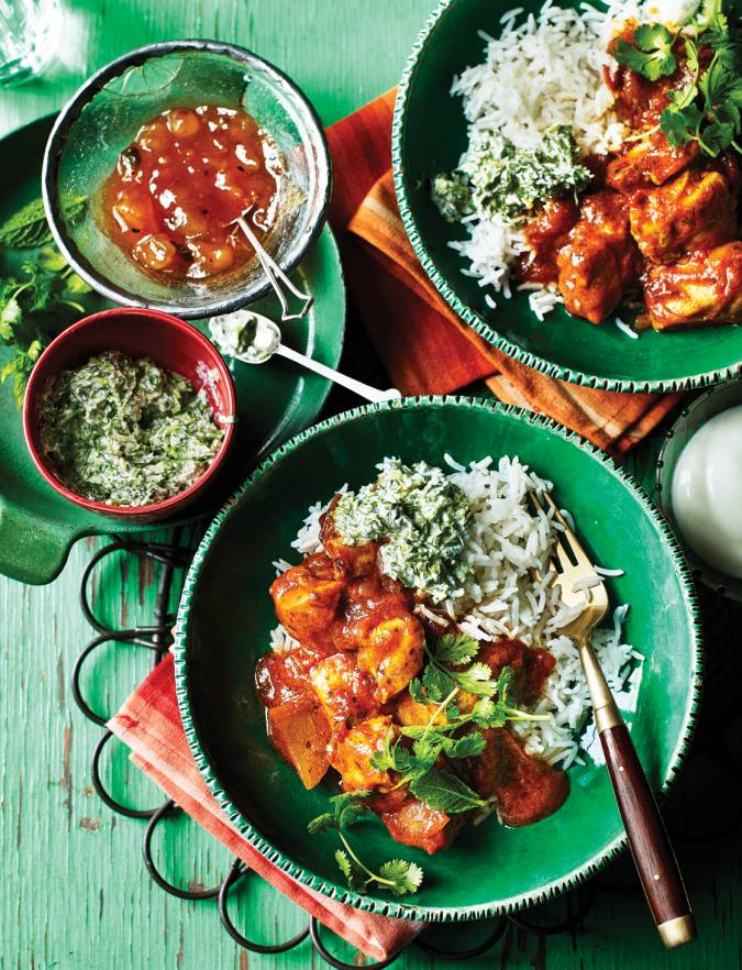 Recipe: Chicken rogan josh with mint and coriander relish