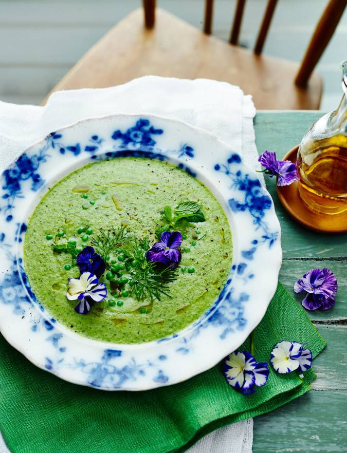 Recipe: Chilled herb, pea and cucumber soup