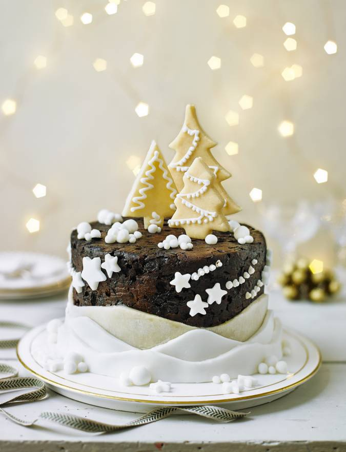 Recipe: Christmas tree forest cake decoration