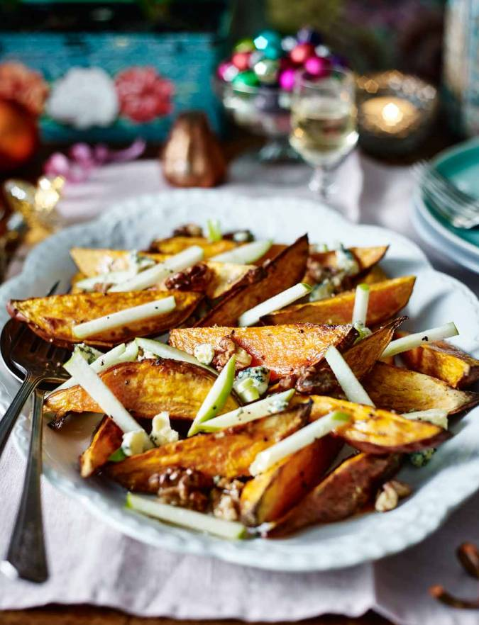 Recipe: Sweet potato and Stilton salad with candied walnuts