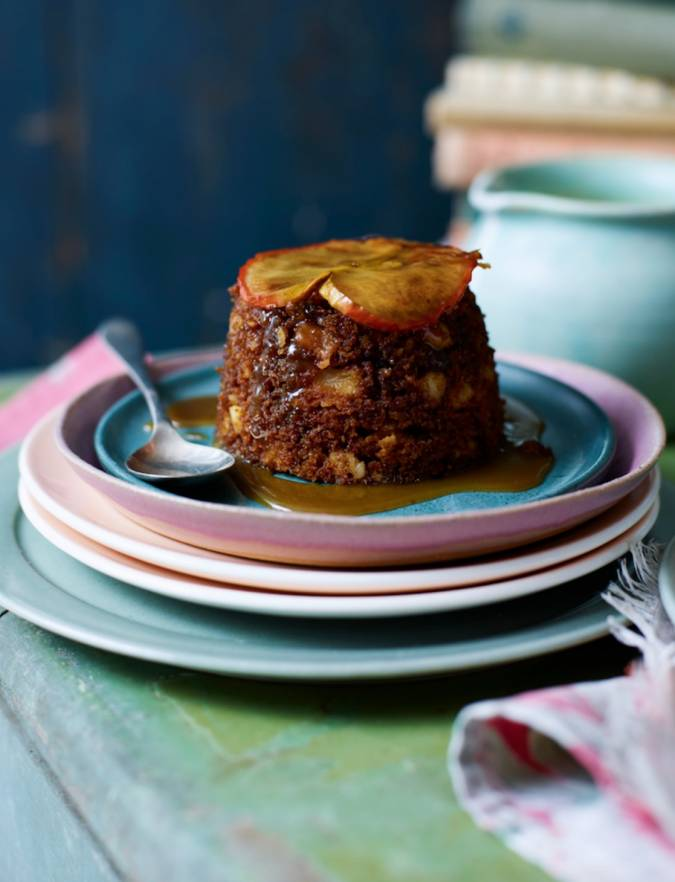 Recipe: Gingerbread, apple and almond steamed puddings