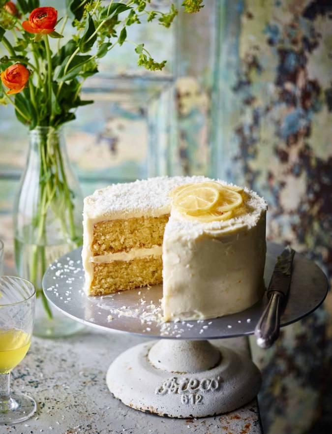 Fine Coconut Lemon Drizzle Cake Recipe Sainsburys Magazine Personalised Birthday Cards Beptaeletsinfo