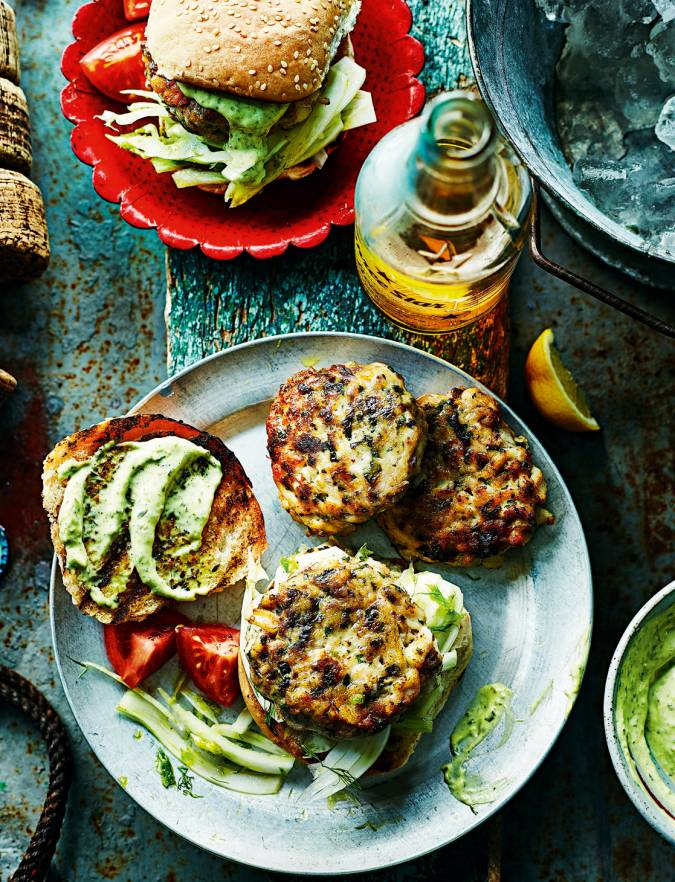 Recipe: Squid and mackerel burgers