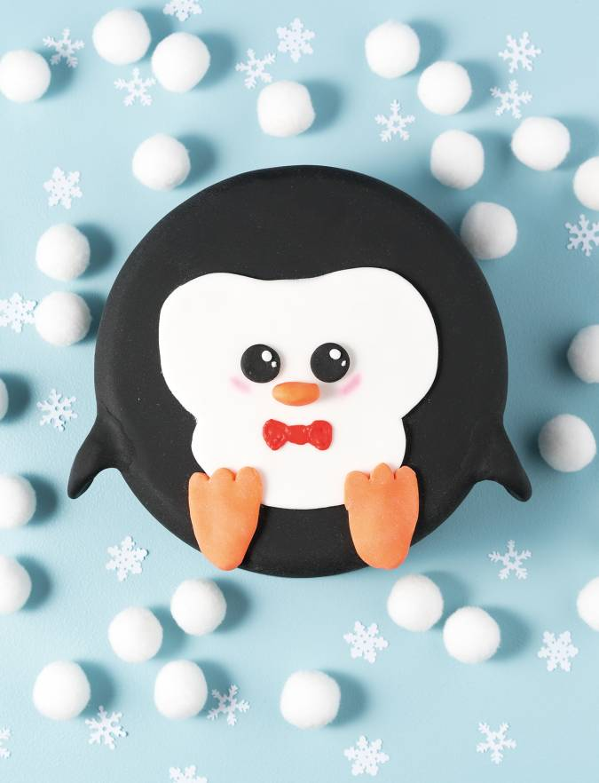Recipe: Christmas penguin cake