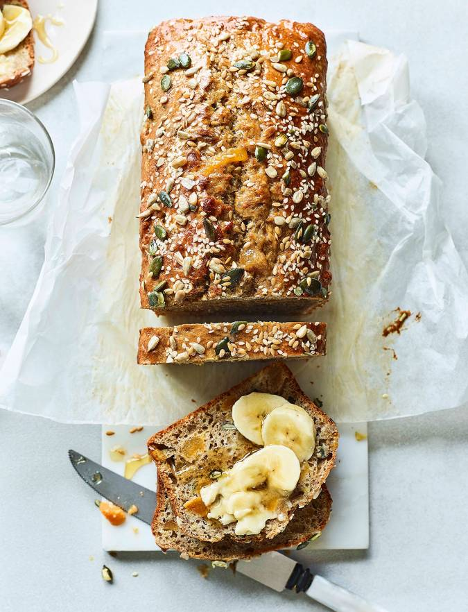 Recipe: Seeded banana and apricot loaf