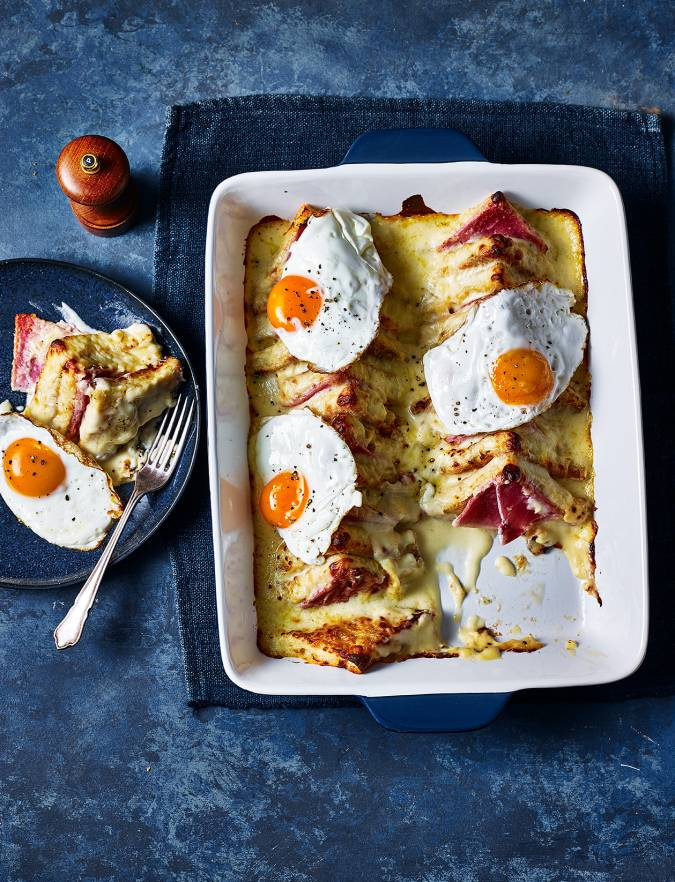 Recipe: Croque madame brunch bake