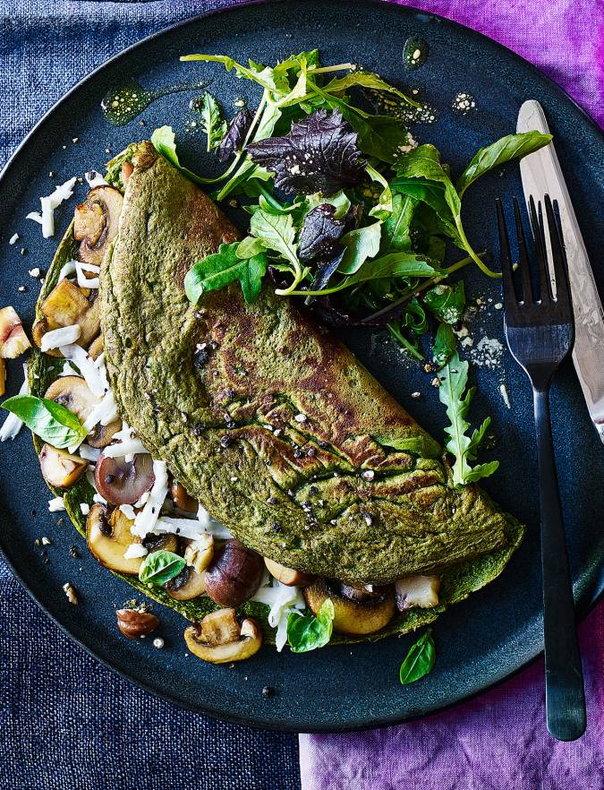 Recipe: Super-green halloumi omelette