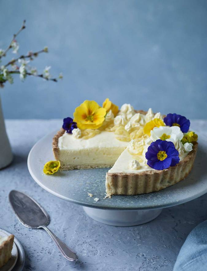 Recipe: Lemon and cardamom chiffon pie with coconut pastry
