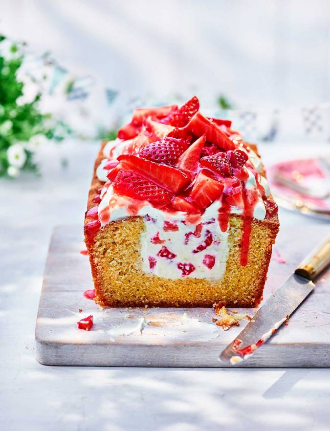 Recipe: Strawberry cheesecake loaf