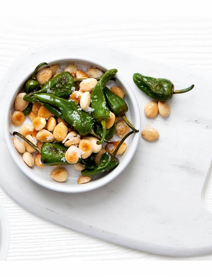 Recipe: Padron peppers and almonds